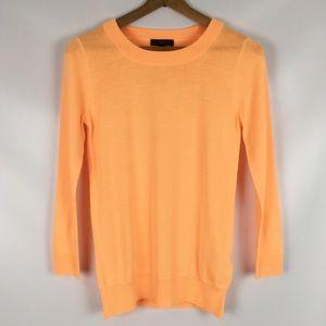 J CREW | neon cantaloupe tippi sweater 0381